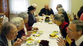 Luncheon with Mt. Nebo Lutheran Church Members